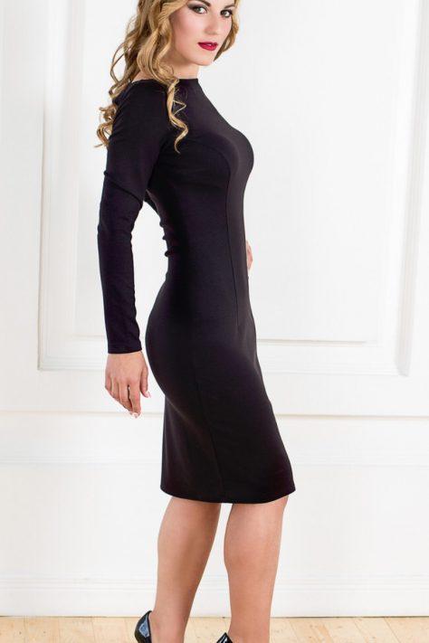 Строгое платье с открытой спинкой